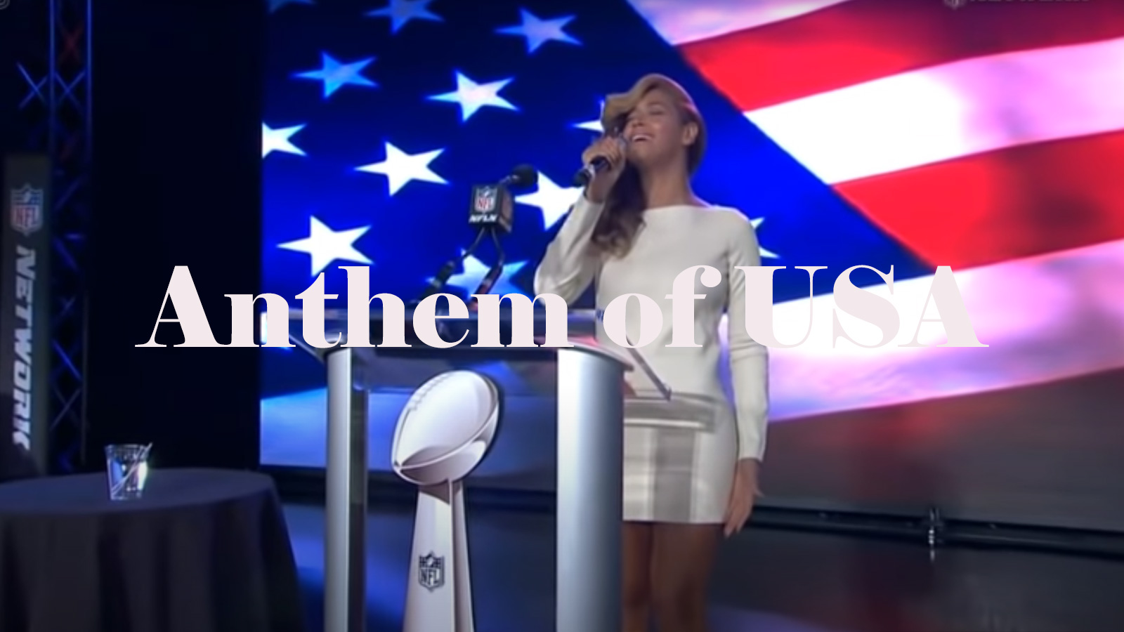 斉唱 アメリカ 国歌